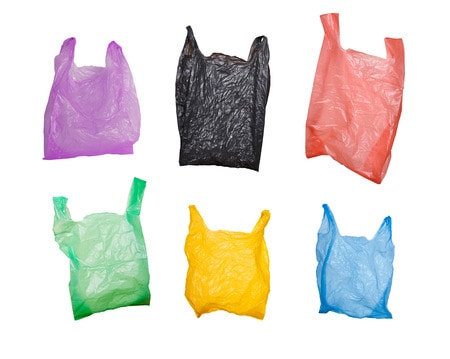 22844082 - collection of various plastic bags isolated on white
